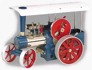 Wilesco model steam traction engine D405